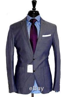 Bnwt Classic Mens Designer Hackett London Slim Fit Summer Suit Jacket Blazer 42r