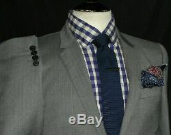 Bnwt Gorgeous Mens Paul Smith London Grey Pinstripe Slim Fit Suit 36r W30
