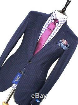 Bnwt Gorgeous Mens Ralph Lauren Navy Pinstripe Classic Slim Fit Suit 40l W34