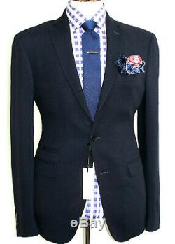Bnwt Gorgeous Mens Versace Collection Tailor-made Navy Slim Fit Suit 38r W32