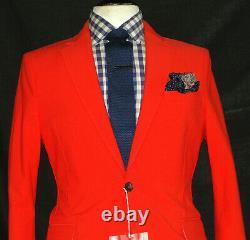 Bnwt Luxury Mens Acne London Spicy Orange Slim Fit Chic Suit 42r W34 X L32