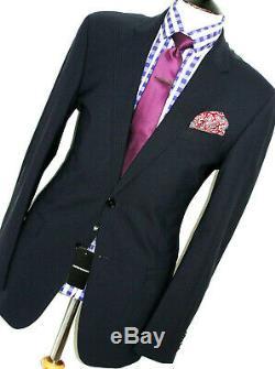 Bnwt Luxury Mens Emporio Armani Dark Plain Navy Slim Fit 2 Piece Suit 44l W38