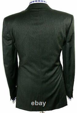 Bnwt Luxury Mens Ermenegildo Zegna Premium Collection Stripey Suit 44r W 38