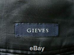 Bnwt Luxury Mens Gieves London Darker Charcoal Grey Slim Fit Suit 38r W32