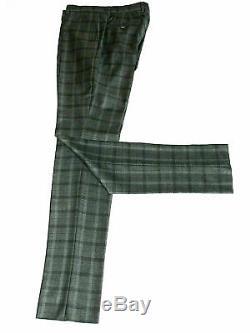 Bnwt Luxury Mens Hackett London Tartan Check Tailor-made Slim Fit Suit 40l W34