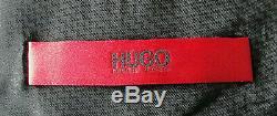 Bnwt Luxury Mens Hugo Boss Italian Plain Black Slim Fit Chic Suit 38r W32 X L32