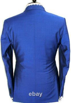 Bnwt Luxury Mens Paul Smith London Blue 3 Piece Slim Fit Suit 38r W32 X L31