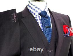 Bnwt Luxury Mens Paul Smith London Burgundy 3 Piece Slim Fit Suit 40r W34 X L31