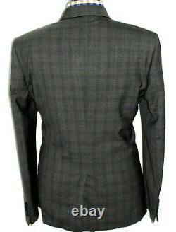 Bnwt Luxury Mens Paul Smith London Charcoal Grey Box Check Slim Fit Suit 42r W36