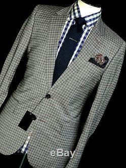 Bnwt Luxury Mens Paul Smith London Gingham Check Slim Fit Suit 40r W34