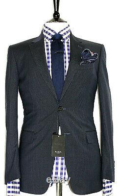 Bnwt Luxury Mens Paul Smith London The Byard Micro Check Slim Fit Suit 36r W30