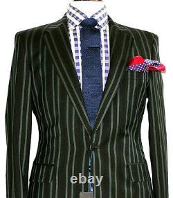 Bnwt Luxury Mens Paul Smith Ps London Slim Fit Stripey Suit 40r W34 X L32