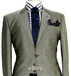 Bnwt Luxury Mens Paul Smith The Byard Sharkskin Tonik Slim Fit Suit 42r W36