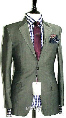 Bnwt Luxury Mens Paul Smith Westbourne Sharkskin Charcoal Slim Fit Suit 36r W30