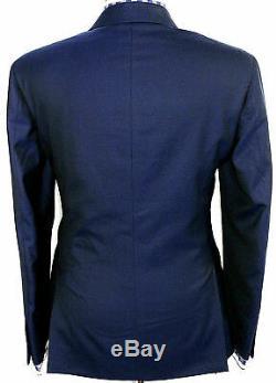 Bnwt Luxury Mens Ralph Lauren Polo Solid Navy Blue Slim Fit Suit 38r W32
