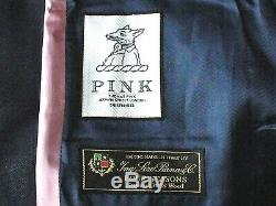 Bnwt Luxury Mens Thomas Pink Loro Piana Navy Birdseye Slim Fit Suit 40r W34
