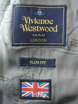 Bnwt Luxury Mens Vivienne Westwood London Check Slim Fit Cropped Suit 38r W32