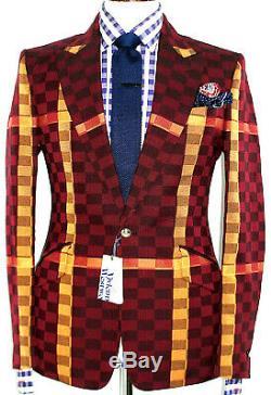 Bnwt Luxury Mens Vivienne Westwood London Tartan Slim Fit Cropped Suit 38r W32