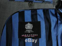 Bnwt Mens Alexandre Savile Row Sharkskin Charcoal Grey Slim Fit Suit 38r W32