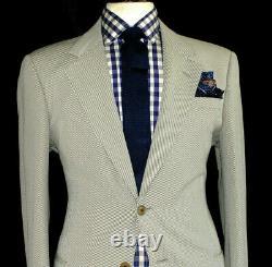 Bnwt Mens Armani Collezioni Italian Biege Formal/ Wedding Slim Fit Suit 46r W40