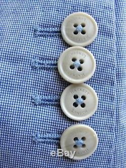 Bnwt Mens Designer Hackett London Micro Check Slim Fit Suit Jacket Blazer 38r