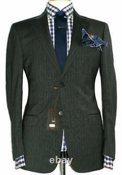 Bnwt Mens Ermenegildo Zegna Charcoal Grey Chalkstripe Slim Fit Suit 42r W36