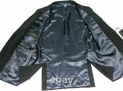 Bnwt Mens Ermenegildo Zegna Premium Collection Herringbone Navy Suit42r W36