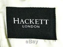 Bnwt Mens Hackett Sartorial Tuxedo Dinner Slim Fit Plain White Suit 46r W40