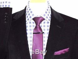 Bnwt Mens Hugo Boss Black Corduroy Slim Fit Suit 38r W32 X L32
