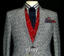 Bnwt Mens Kilgour Savile Row London Fleck Check Slim Fit Suit Jacket/ Blazer 38r