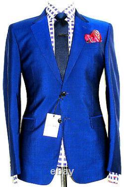 Bnwt Mens Luxury Paul Smith The Byard London Royal Blue Slim Fit Suit 40r W34