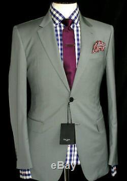 Bnwt Mens Paul Smith London Blue Grey Formal/ Wedding Slim Fit Suit 38r W32