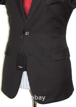 Bnwt Mens Paul Smith London Micro Check Black Slim Fit Tailor-made Suit 42r W36