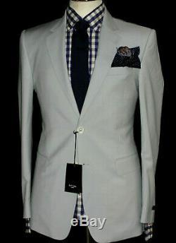 Bnwt Mens Paul Smith London Off White Grey Formal/ Wedding Slim Fit Suit 38r W32