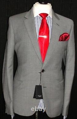 Bnwt Mens Paul Smith London Tailor-made New Edition Textured Grey Suit 44r W38