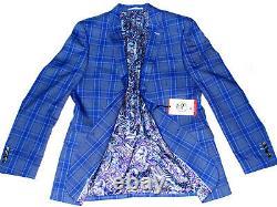 Bnwt Mens Paul Smith London Tartan Box Check 3 Piece Slim Fit Suit 40r W34 X L31