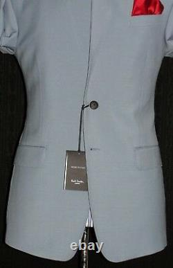 Bnwt Mens Paul Smith London The Byrad Fit New Edition Baby Blue Suit 40r W34