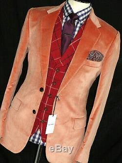 Bnwt Mens Paul Smith Mayfair Velvet Blush Pink Smoking Slim Fit Suit 40r W34