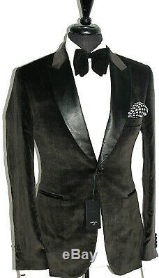 Bnwt Mens Paul Smith Mayfair Velvet Smoking Tuxedo Dinner Slim Fit Suit 38r W32