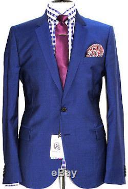 Bnwt Mens Paul Smith Ps Fit London Royal Blue 2018 Edition Slim Fit Suit 44r W38