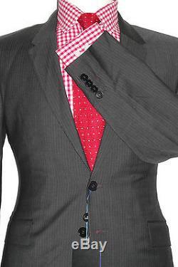 Bnwt Mens Paul Smith Ps Grey Fine Herringbone Classic Slim Fit Suit 40r W34