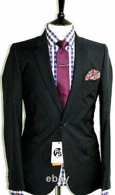 Bnwt Mens Paul Smith Ps London 2020 Collection Navy Black Slim Fit Suit 38r W32