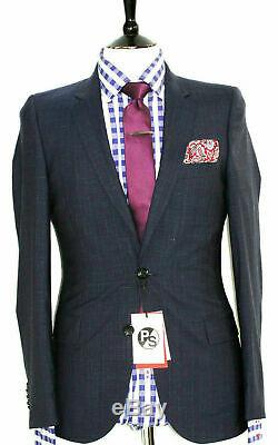 Bnwt Mens Paul Smith Ps London 2020 Collection Navy Stripe Slim Fit Suit 36r W30