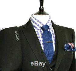 Bnwt Mens Paul Smith Soho London Plain Black 3 Piece Slim Fit Suit 38r W32 X L32