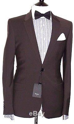 Bnwt Mens Paul Smith The Ps Dark Brown Slim Fit Suit 40r W34