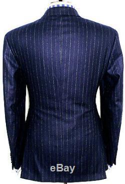 Bnwt Mens Ralph Lauren Polo Sartorial Navy Chalkstripe Slim Fit Suit 40r W34