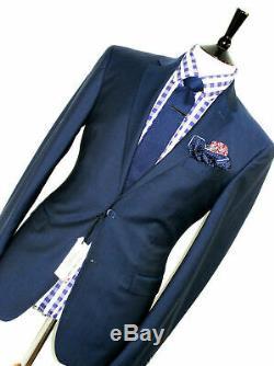 Bnwt Mens Versace Collection Tonik Stripey Navy Blue Slim Fit Suit 38r W32
