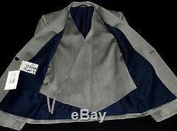 Bnwt Mens Vivienne Westwood London Sharkskin Grey 3 Piece Slim Fit Suit 38r W32