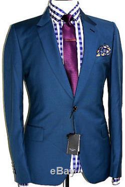Bnwt Rare Luxury Mens Paul Smith Soho London Aqua Green Slim Fit Suit 40r W34