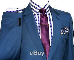 Bnwt Rare Luxury Mens Paul Smith Soho London Aqua Green Slim Fit Suit 42r W36